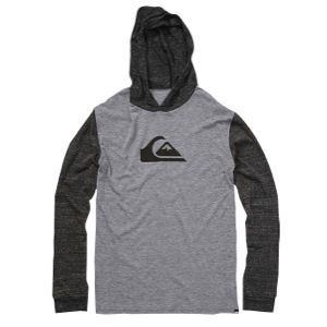 Quiksilver Mountain Wave L/S Hoodie T Shirt   Mens   Casual   Clothing   Smoke Heather