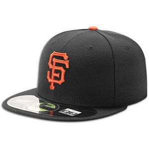 New Era MLB 59Fifty Authentic Cap   Mens   Baseball   Accessories   San Francisco Giants   Black