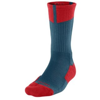 Jordan AJ Dri Fit Crew Socks   Mens   Basketball   Accessories   Dark Sea/Gym Red