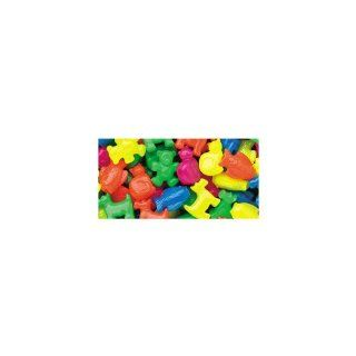 Beadery NOM030477 Pet Parade Assorted Circus Plastic Beads 1/4 Pounds Per Pack, Multi