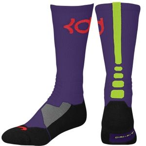 Nike KD Hyper Elite Crew Socks   Mens   Basketball   Accessories   Court Purple/Black/Volt/Light Crimson