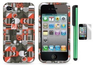 "Spy Eye Everywhere Premium Design Protector Hard Cover Case Compatible for Apple Iphone 4 / 4S (AT&T, VERIZON, SPRINT) + Screen Protector Film + Combination 1 of New Metal Stylus Touch Screen Pen (4"" Height, Random Color  Black, Silver, Hot Pink,"