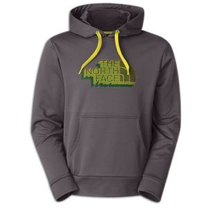 The North Face Surgent Pull Over Novelty Hoodie   Mens   Casual   Clothing   Graphite Grey/Sulphur Spring Green