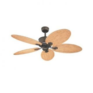 Westinghouse 72440 Oak Harbor 56 Inch Five Blade Ceiling Fan, Oil Rubbed Bronze with Bamboo Light Maple Blades