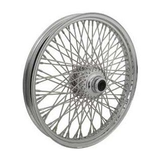 "Chrome Plated Front Wheel, 21"" x 3.00"", <font size""1""><sup>3</sup>/<sub>4</sub></font>"" I.D.   Sealed Ball Bearing<br>Fits FLST models 1987/1999 (except FLSTS)<br>Spoke nipple sealin"