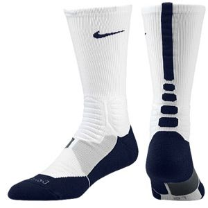 Nike Hyper Elite Basketball Crew Socks   Mens   Basketball   Accessories   White/Midnight Navy