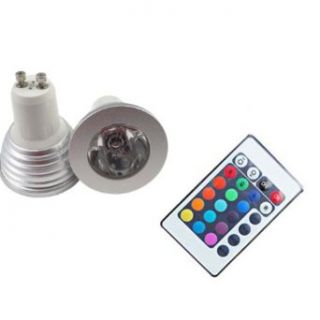 LemonBest� GU10 4W AC100 245V RGB 16 Colors LED Bulb Lamp light with Remote Control for Home living Room Decoration, pack 10