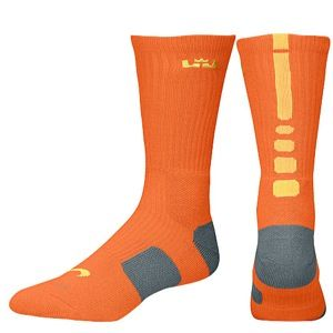 Nike LeBron Elite Basketball Crew   Mens   Basketball   Accessories   Urban Orange/Armory Slate