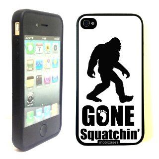 Gone Squatchin Big Foot   Protective Designer BLACK Case   Fits Apple iPhone 4 / 4S / 4G Cell Phones & Accessories