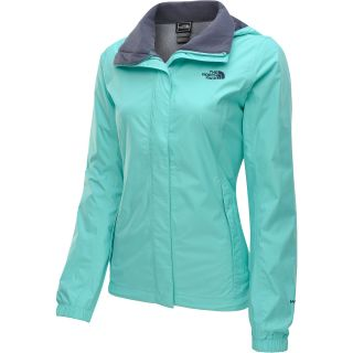 THE NORTH FACE Womens Resolve Rain Jacket   Size 2xl, Mint Blue
