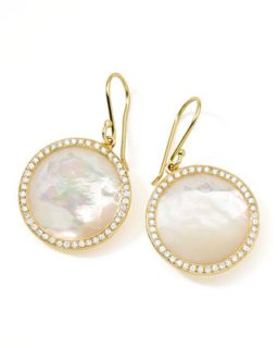 Rock Candy 18k Gold Lollipop Diamond Earrings, Mother of Pearl   Ippolita