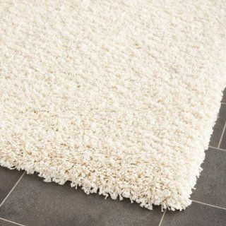 Safavieh Shag Collection SG151 1212 Ivory Shag Area Rug, 4 Feet by 6 Feet   Safavieh White Rug
