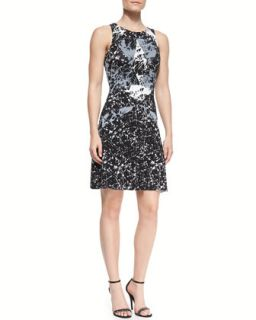 Womens Cubist Marble Print Jersey Dress   Bailey 44   Black (X SMALL/0 2)