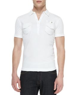 Mens T. Maya Jersey Polo Shirt, White   Diesel   White (LARGE)