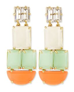 varadero tile statement earrings   kate spade new york   Multi colors