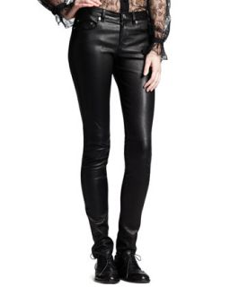 Womens Skinny Leather Pants   Saint Laurent   Black (44/12)