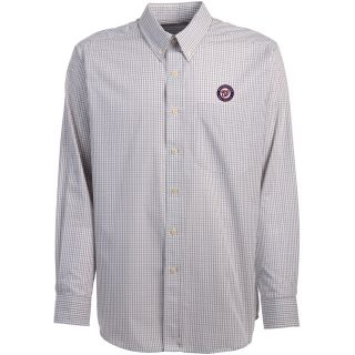 Antigua Washington Nationals Mens Monarch Long Sleeve Dress Shirt   Size