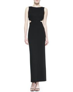 Womens Cutout Back Boat Neck Gown   Nicole Miller   Black bk (8)