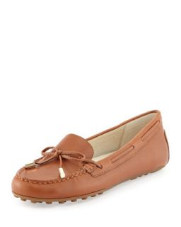 Daisy Leather Moccasin Loafer   MICHAEL Michael Kors   Luggage (40.0B/10.0B)