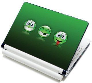 "Meffort Inc� 15 15.6 Inch Laptop Notebook Skin Sticker Cover Art Decal Fits Laptop Size of 13"" 13.3"" 14"" 15"" 15.6"" 16"" HP Dell Lenovo Asus Compaq Asus Acer Computers (Free Wrist Pad) (Three Smiley Face) Computers & Access"