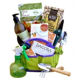 Organic Gourmet Snacks Gardeners Tote  Great Fathers Day Gift Idea for Him  Gourmet Snacks And Hors Doeuvres Gifts  Grocery & Gourmet Food
