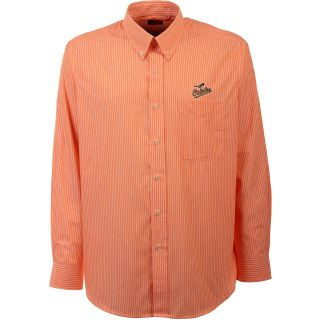 Antigua Baltimore Orioles Mens Republic Button Down Long Sleeve Dress Shirt