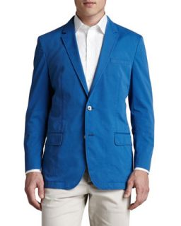 Mens Washed Twill Jacket, Bright Blue   Boss Hugo Boss   Blue (46L)