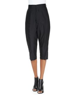 Womens Easy Astaire Wide Cropped Pants   Rick Owens   Black (40/6)