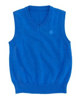 V Neck Sweater Vest, Bright Blue, 3 24 Months   Andy & Evan   B tblue (3M 6M)