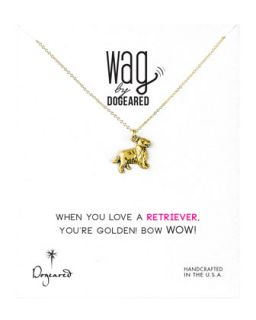 14k Vermeil Golden Retriever Dog Necklace   Dogeared   Gold (14k )