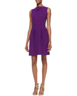 Womens Antila Sleeveless Pleated Skirt Dress   Roland Mouret   Plum (UK8/4)