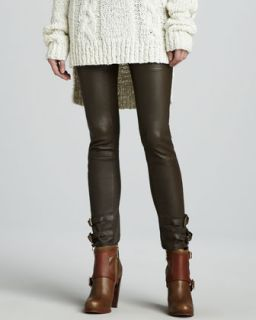 Womens Belted Leather Pants   Rachel Zoe   Saddle (4)