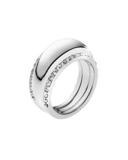 Pave Insert Ring, Silver Color   Michael Kors   Silver (6)