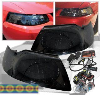99 04 Ford Mustang All Smoke Headlights+hid Kit 02 03 Automotive
