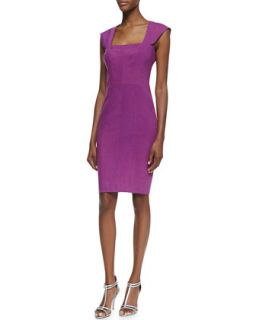 Womens Square Neck Cocktail Sheath Dress   Nicole Miller   Mulberyy mbl (12)