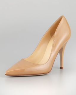 licorice patent pointed toe pump, camel   kate spade new york   Camel (39.0B/9.