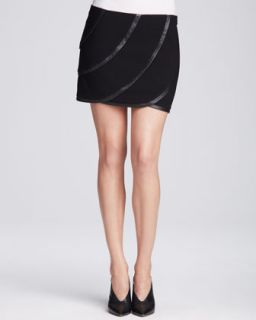 Womens Karina Leather Panel Skirt   Diane von Furstenberg   Blkblk (8)