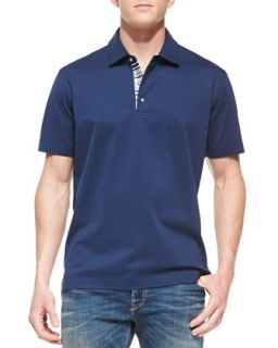 Mens Tino Pique Polo Shirt, True Navy   Robert Graham   True navy (XX LARGE)