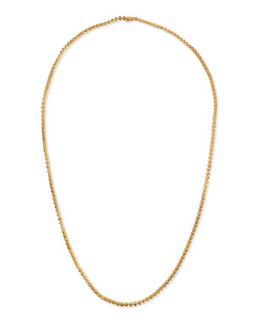 Matte Yellow Gold Pyramid Link Necklace   Eddie Borgo   Gold
