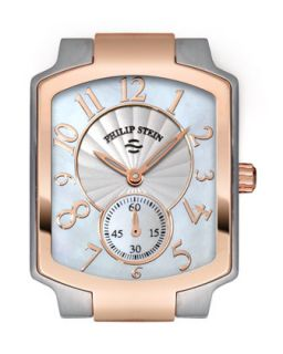 Small Classic Two Tone Rose Gold Watch Head   Philip Stein   Rose gold