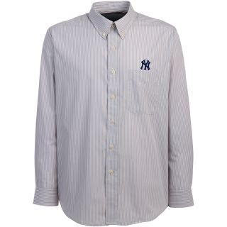 Antigua New York Yankees Mens Republic Button Down Long Sleeve Dress Shirt