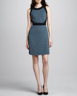 Womens Tweed Print Jersey Dress   Phoebe by Kay Unger   Blue multi (14)
