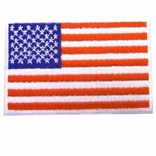 American Flag White Border USA Iron On Patches WITH FREE GIFT