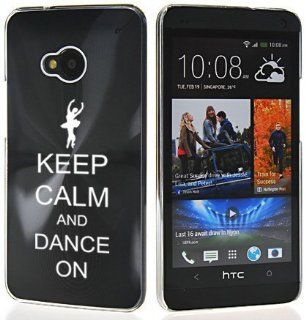 Black HTC One M7 Sprint AT&T T Mobile Aluminum Plated Hard Back Case Cover 7M282 Keep Calm and Dance On Cell Phones & Accessories