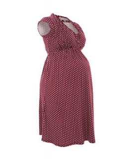 Maternity Red Polka Dot Dress