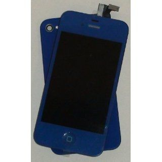 Dark Blue Color Conversion Kit for Apple iPhone 4s LCD Digitizer Home Button & Back Set for ATT Sprint Verizon Cell Phones & Accessories