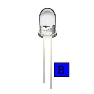 Joe Knows Electronics 5mm Clear Blue LED (100 Pack) HQ Series Electronic Component Led Lamps