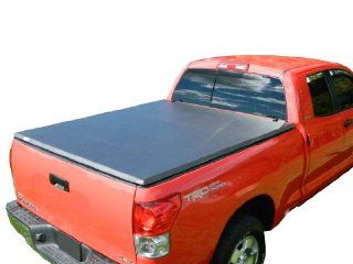 TonneauCovers4Less TMN 0465 Nissan Titan Tri Fold Tonneau Cover   6.5' Short Bed   2004 2012   Black Automotive