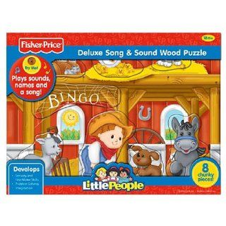 Fisher Price Little People Bingo Song & Sound Wood Puzzle 8 pcs Toys & Games