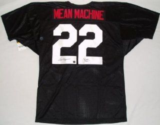Burt Reynolds Signed The Longest Yard Mean Machine Black Wilson Jersey w/'Paul Crewe'  Sports Related Collectibles  Sports & Outdoors